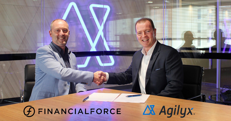 financial force agilyx partnership announcement image